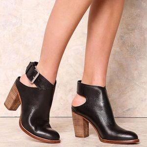 Dolce Vita Jacklyn Black Block Heel Ankle Boot 10